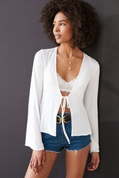 Kimchi And Blue Kimchi Blue Kelsey Tie Front Babydoll Top Ivory