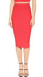 Cushnie Et Ochs Knit Pencil Skirt Red