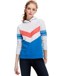 Tommy Hilfiger Chevron Stripe Colorblock Hoodie