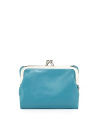 Hobo Bette Leather Fold Over Wallet Azure