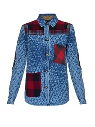 Tortoise Jeans Quilted Plaid Patchwork Cotton Jacket
