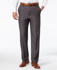 Haggar Microfiber Performance Classic Fit Dress Pants Only At Macy's Charcoal Heather