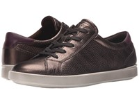 Ecco Aimee Sport Tie Licorice Metallic Mauve Women's Lace Up Casual Shoes