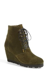 Anyi Lu 'Fiona' Bootie Women Military Suede