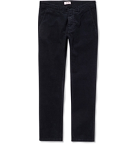 Nn.07 Marco Cotton Blend Corduroy Trousers Blue