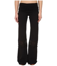 Nightcap Crochet Beach Pants Black Women's Casual Pants