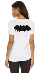 Zoe Karssen Bat Tee Optical White Pirate Black