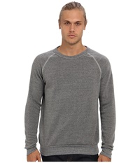 Alternative Apparel Champ Eco Fleece Sweatshirt Eco Grey Men's Long Sleeve Pullover Gray