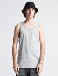 Stussy Heather Grey Basic Logo Tank