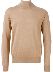 Canali Turtle Neck Sweater Brown