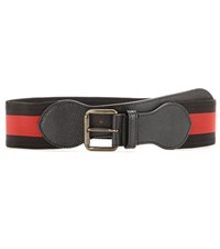 Tomas Maier Leather Trimmed Elasticated Belt Black