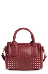 Sole Society Maddoxx Studded Faux Leather Satchel Red