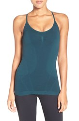 Zella Women's 'Power Pose' Cross Back Tank Green Ponderosa