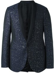 Lanvin Embroidered Shawl Lapel Jacket Blue