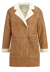 Springfield Faux Leather Jacket Browns Beige