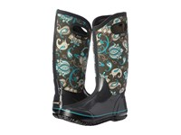 Bogs Classic Paisley Floral Tall Dark Gray Multi Women's Waterproof Boots