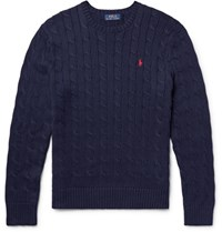 Polo Ralph Lauren Cable Knit Cotton Weater Navy