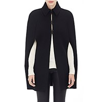 Barneys New York Women's Cape Coat Black Blue Black Blue