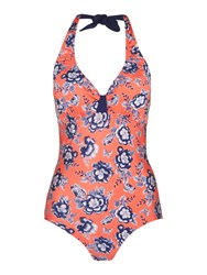 Dickins And Jones Floral Print Built Up Triangle Swimsuit Multi Coloured