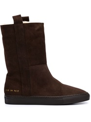Common Projects Sherpa Boots Brown