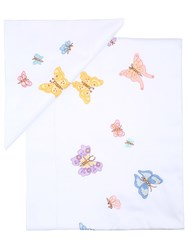 Loretta Caponi Butterfly Flower Embroidered Sheet Set