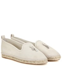 Loro Piana My Charms Suede Espadrilles Neutrals