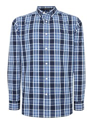 Howick Carlsbad Long Sleeve Checked Shirt Navy