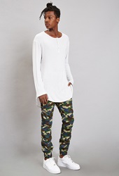 Forever 21 Reason Natural Camo Joggers Olive Blue