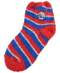 For Bare Feet Philadelphia 76Ers Sleep Soft Candy Striped Socks Red Blue