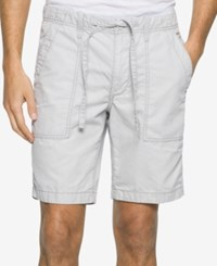 Calvin Klein Jeans Men's Faded Poplin Shorts Grey Violet