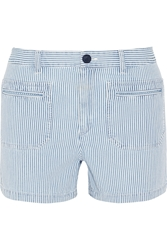 A.P.C. Roma Striped Denim Shorts