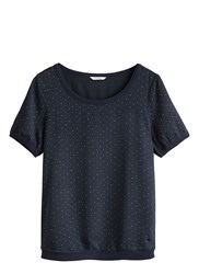 Sandwich Polka Dot T Shirt Navy