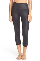 Alo Yoga Women's Alo High Rise Capris Black Glossy