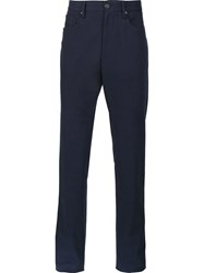 Incotex 'Moss' Chinos Blue