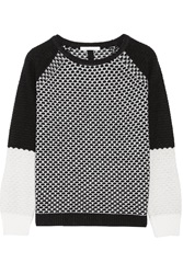 Duffy Wool Blend Intarsia Sweater Black