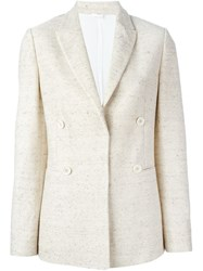 Brunello Cucinelli Double Breasted Blazer Nude And Neutrals