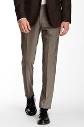 Ben Sherman Flat Front Trouser 30 34' Inseam Brown