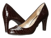 Bandolino Lantana Brown Croco Synthetic High Heels