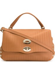 Zanellato Small 'Postina' Satchel Nude And Neutrals