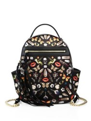 Alexander Mcqueen Printed Chain Strap Backpack Black Multi