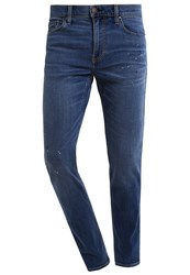 Hollister Co. Freedom Slim Fit Jeans Blue Destroyed Denim