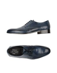Grey Daniele Alessandrini Footwear Lace Up Shoes Men Pastel Blue
