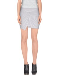 Plein Sud Jeanius Skirts Mini Skirts Women White