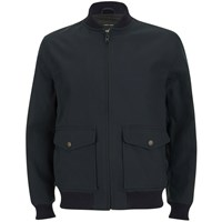 Knutsford Men's 'Made In England' Cotton Zip Through Bomber Jacket Navy