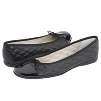 French Sole Passportr Black Patent Black Leather Women's Dress Flat Shoes