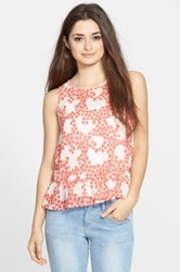 Frenchi Sheer Peplum Tank Juniors Multi