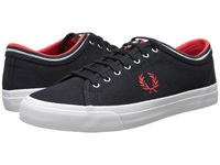 Fred Perry Kendrick Tipped Cuff Canvas Navy Red Men's Lace Up Casual Shoes Multi