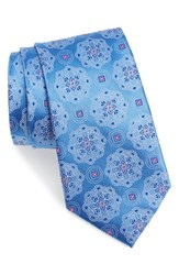 Nordstrom Men's Men's Shop 'Big Flower' Silk Tie Blue