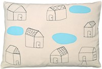 K Studio Houses With Pools Pillow
