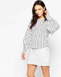 Minimum Villa Stripe Top White